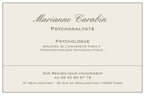 Marianne Carabin Psychanalyste