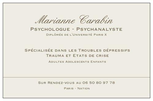 Marianne Carabin Psychanalyste Paris Nation
